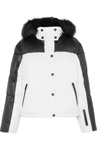 Topshop Sno jacket fur faux fur white