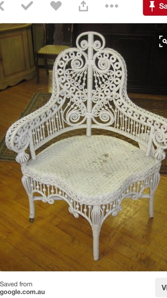home accessory white antique wicker corner chair or