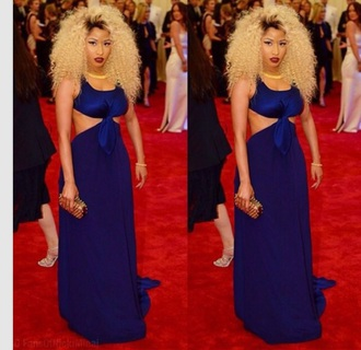 dress blue nicki minaj
