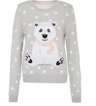 blouse sweater shirt jewels hat scarf shoes polar bear sweater