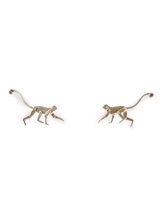 metallic women monkey earrings jewels