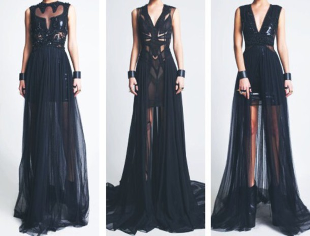 dress black long dresses