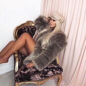 coat,fur,fur coat,faux fur coat,big fur coat,big fur,big coat,pink fur coat,grey fur coatw,white fur coat,black fur coat,luxury,viva luxuryg,glamour,outerwear,fur jacket,pink fur coatf,furry coat,furry coats,big furry coats,outfit idea,date outfit,faux,black top,trendy,outfit,style me,glam girl,winter outfits,winter out,clothes,apparel,fashionista,ootd,lace top,pretty lace white top,black jacket,white t-shirt