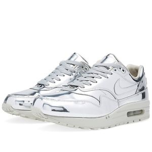WMNS NIKE AIR MAX 1 SP LIQUID METAL SILVER METALLIC UK 3 US 5.5 EU 36 GOLD QS