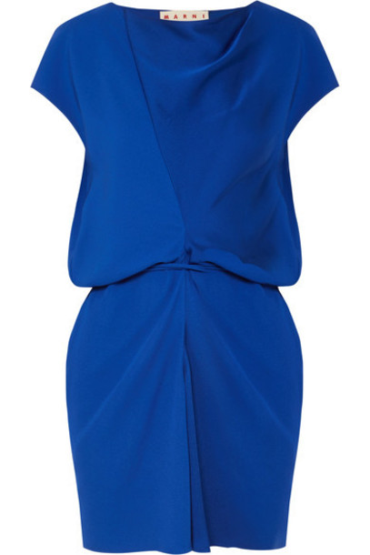 MARNI top blue satin