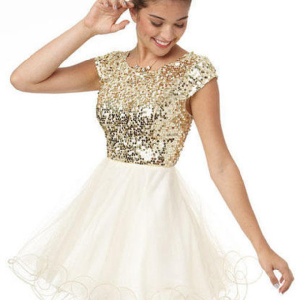 Short Glittery Prom Dresses - Evening Wear