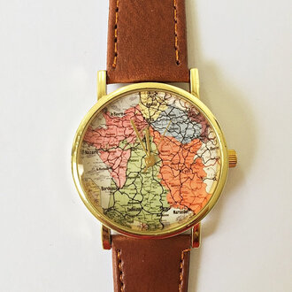 jewels watch handmade style fashion vintage etsy freeforme map france paris paris map summer spring gift ideas new