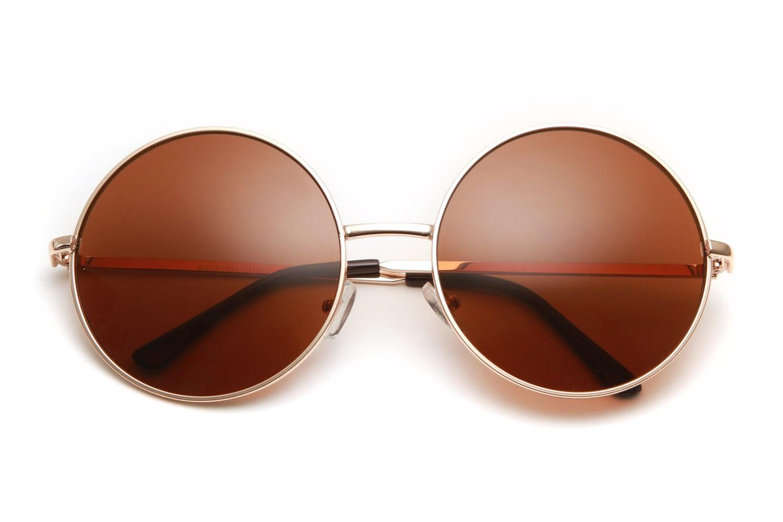 80s - Walker Large Circle Frame Sunglasses (More Colors)