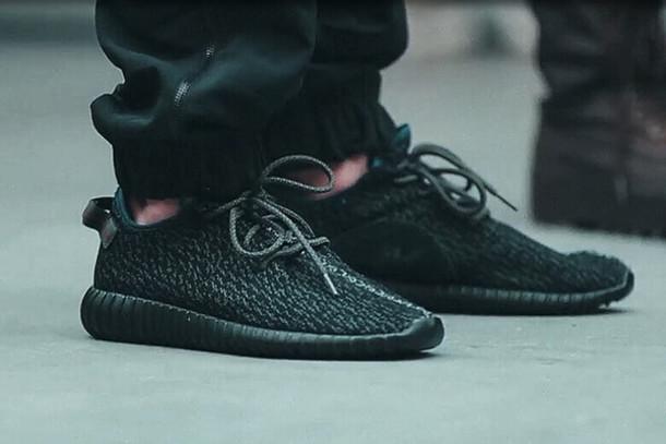 d47a5cb0c shoes adidas yeezy 350 pirate black pirate black yeezy 350 350 boost black  black sneakers sneakers