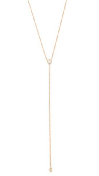Ariel Gordon Jewelry Diamond Lariat Necklace - Gold/Diamond