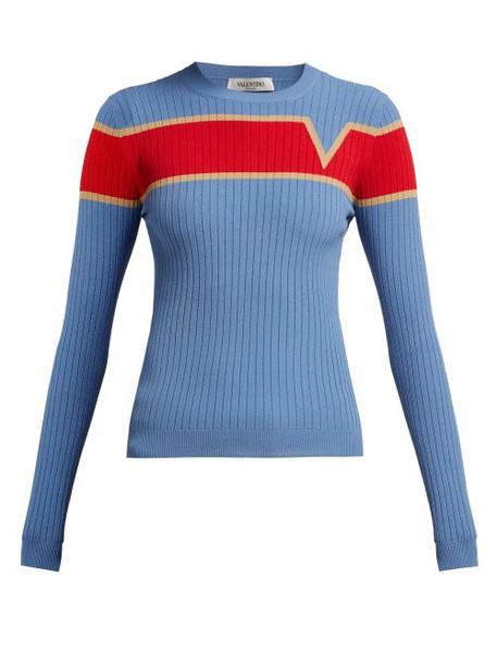 sweater blue knit
