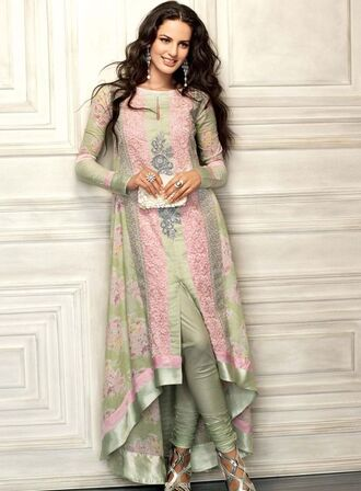 dress shalvaar kameez dress maxi dress floral dress green dress