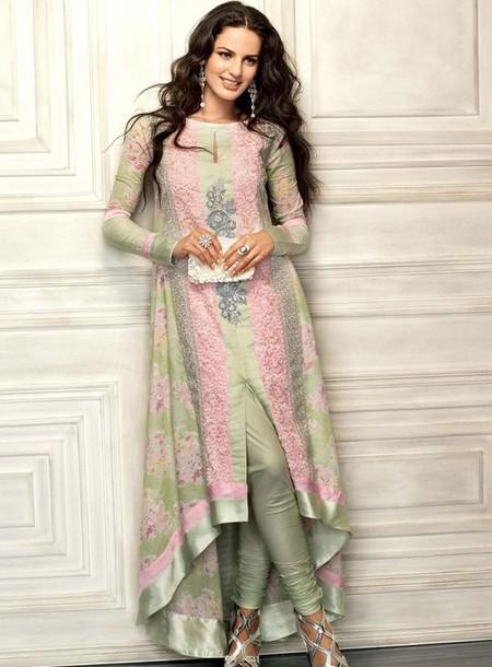 dress pakistani dress pakistani fashion shalvaar kameez dress maxi dress floral dress green dress