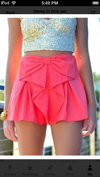 shorts shirt gold sequins bustier tank top