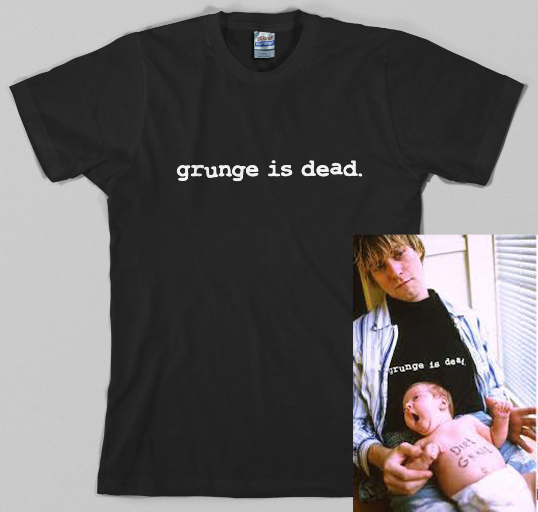 e4640766 Grunge ist tot-T-Shirt - Kurt Cobain, Nirvana, 90er Jahre, rock, Graphic Tee,  alle Gr