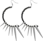 jewels,candy luxx,long earrings,spike earrings,beaded earrings