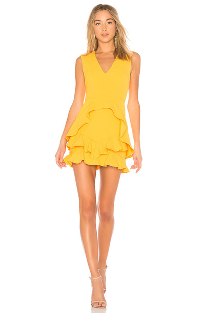 Rebecca Vallance dress mini dress mini yellow