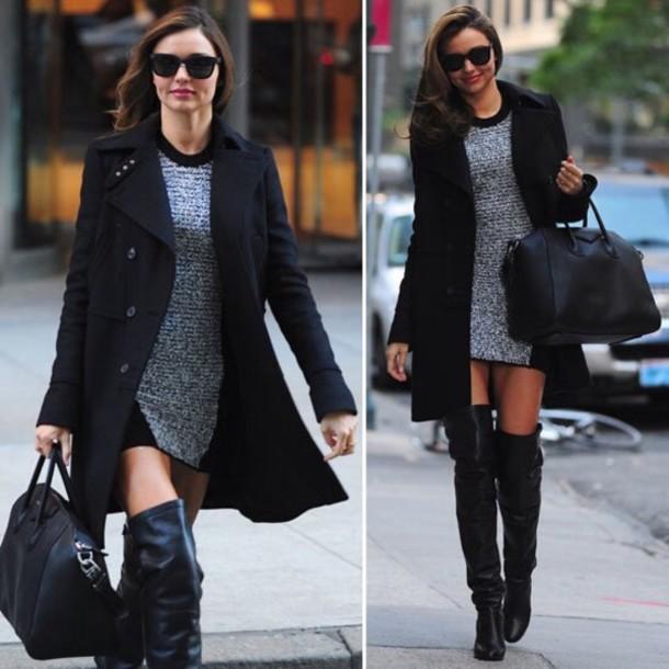 dress miranda kerr shoes bag coat