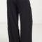 Summer linen flowy wide pants - black