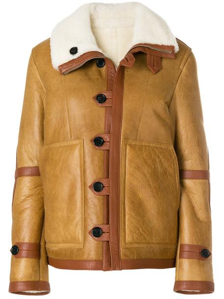 jacket fur women brown