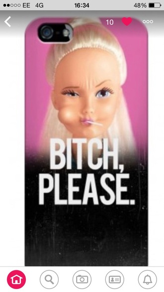 phone cover pink barbie lolly pop cute iphone cover iphone 5c blonde hair platinum hair bitch quote on it phone case