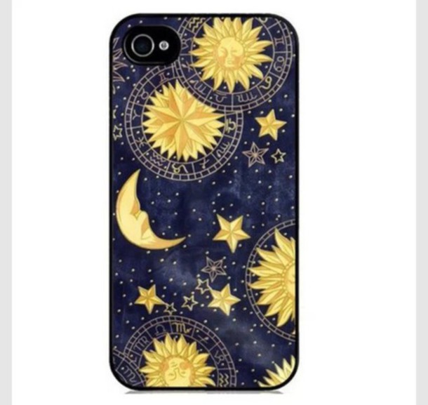 Phone Cover Dark Witching Hour Witchcraft Symbols Moon Sun