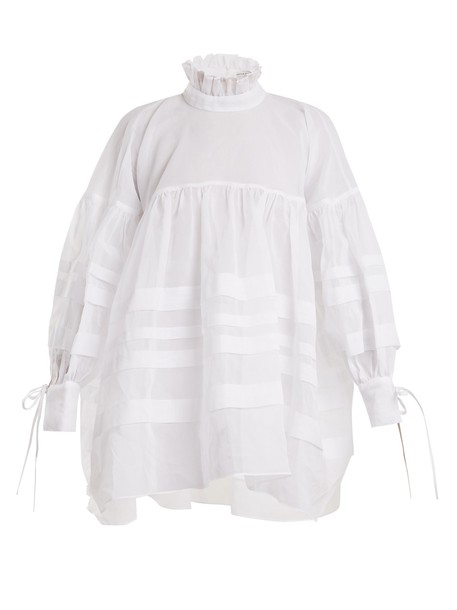 Cecilie Bahnsen top oversized cotton white