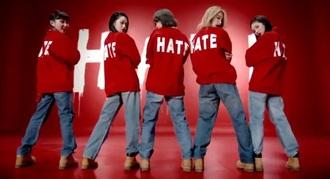 sweater red hate kpop 4minute korean fashion sweatshirt white