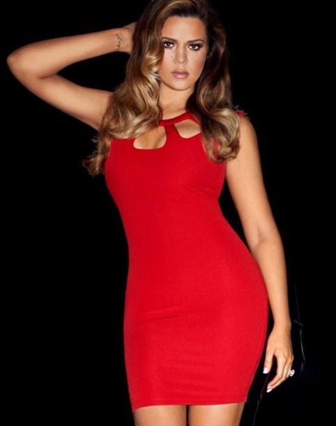 4115db2f02d1 khloe kardashian kardashian kollection lipsy red cut out bodycon dress dress
