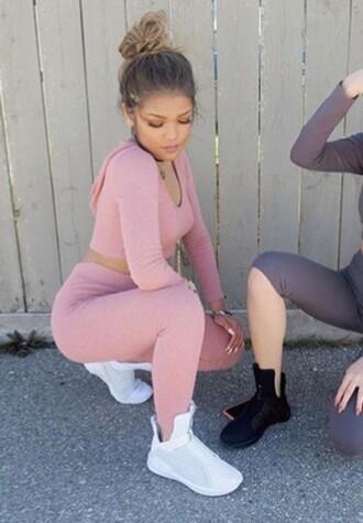 shoes adidas leggings white pink black jumpsuit pants pink pants