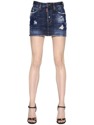skirt mini skirt denim mini blue