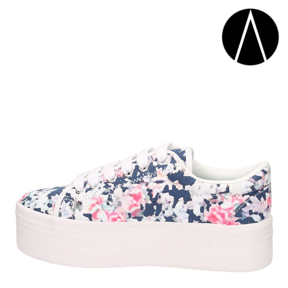 Jeffrey Campbell Zomg Blue Floral - AversaShoes