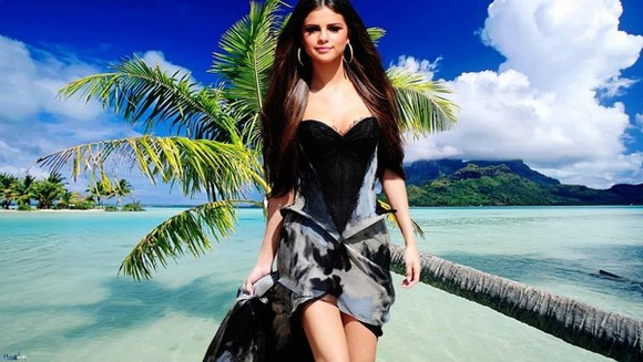 earings dress selena gomez little black dress mini dress tropical bikini black bikini