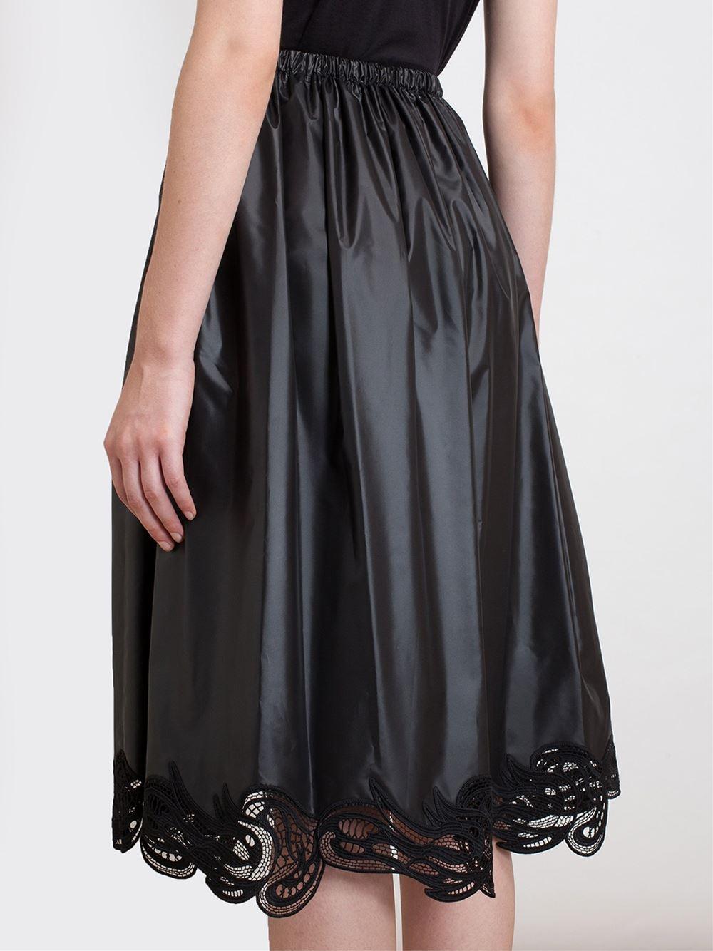 Christopher Kane Lace Hem Midi Skirt - Browns - Farfetch.com