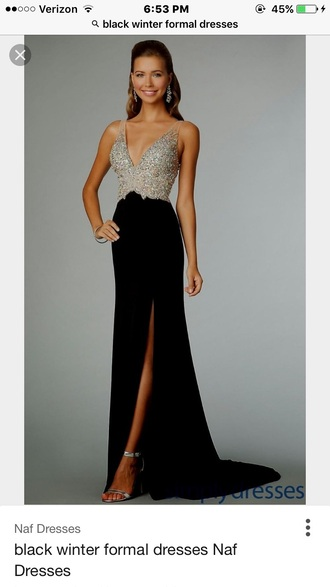 dress black dress long dress formal dress