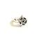 Sterling silver pentagram poison box ring