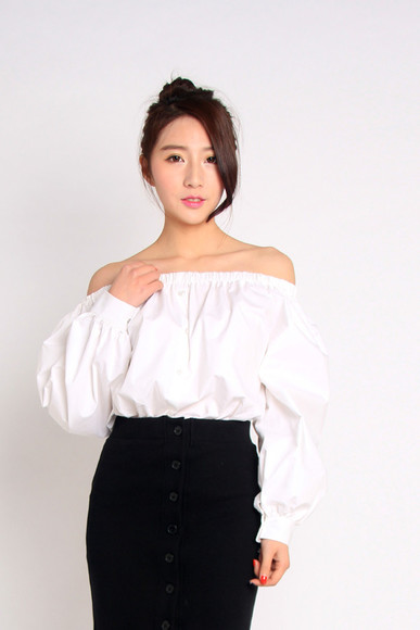 korean korea koreanfashion stylenanda shirt blouse top tops blouses mcclaugherty manila philippines asianfashion asian tee t-shirt stylenandaoverrun shirts fashiona