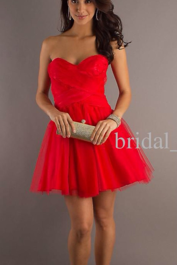 dress red prom short prom dress prom dress short