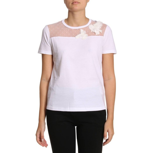 RED VALENTINO t-shirt shirt t-shirt women white top