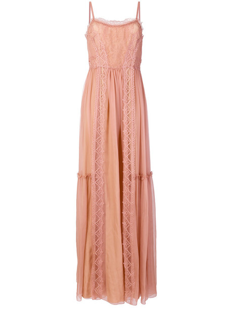 dress maxi dress maxi women lace nude silk