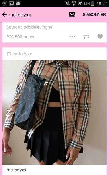shirt burberry skirt