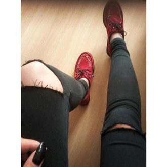 shoes red shoes red black pants