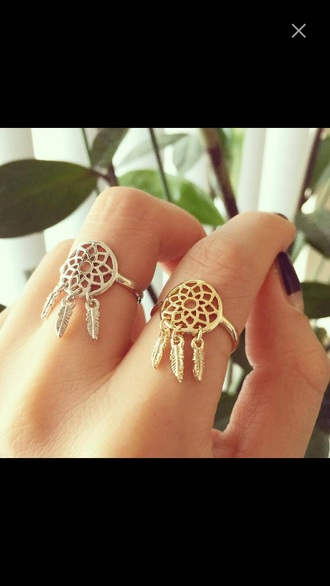 jewels jewelry ring rings and tings gold gold ring dreamcatcher dreamcatcher ring dreamcatcher jewelry boho boho chic boho jewelry bohemian