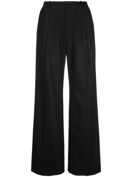 women black wool pants