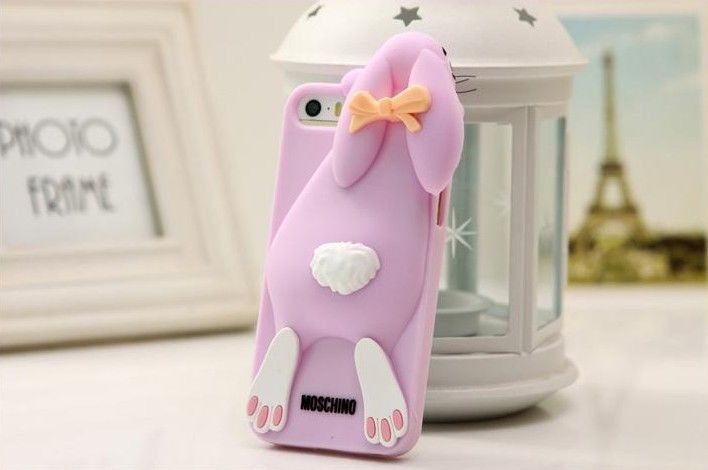 Silicone lovely cute rabbit high fashion for iphone 5 5s 5g cell phone case luxury for iphone5 cover