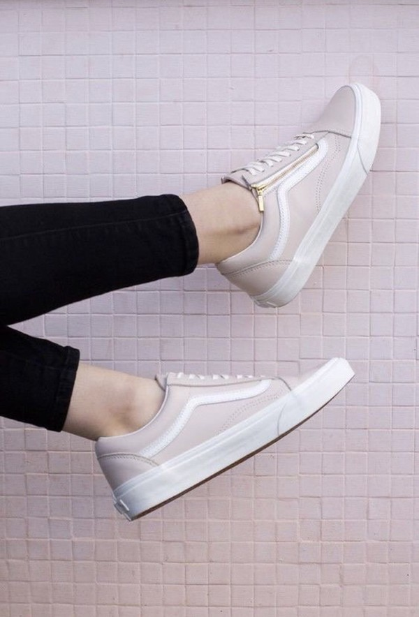 shoes pink shoes vans zip low tops fashion pink low top sneakers