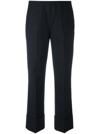 cropped women spandex wool grey pants