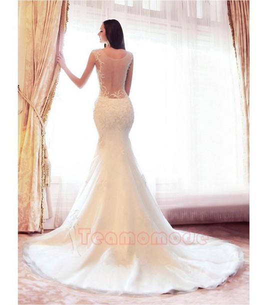 Dress Langes Brautkleid Sexy Brautkleid Spitze Brautkleid Hof