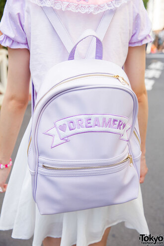 bag pastel pastel pink it girl shop pastel goth purple japan tokyo fashion harajuku dreamcatcher