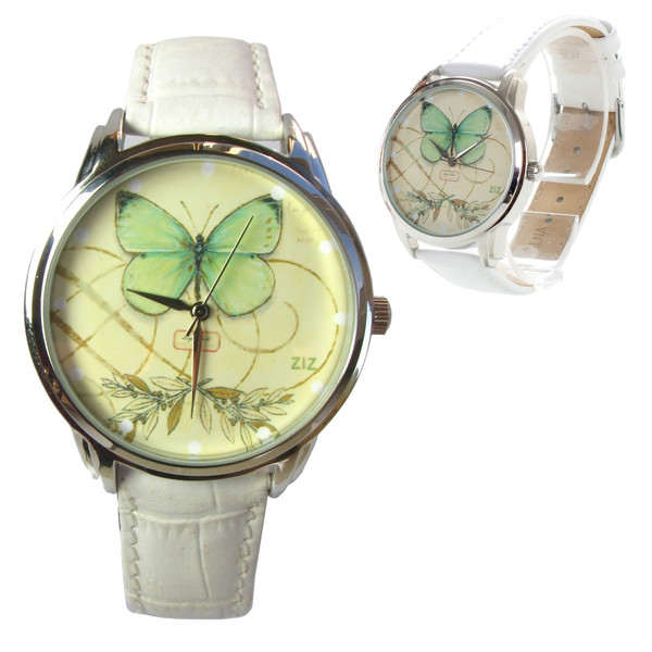 jewels ziziztime watch watch leather watch butterfly butterfly watch romantic watch white green unusual watch unique watch ziz watch
